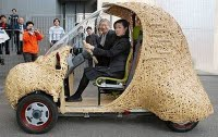 Wuih! Ada Mobil Dari Bambu Lho